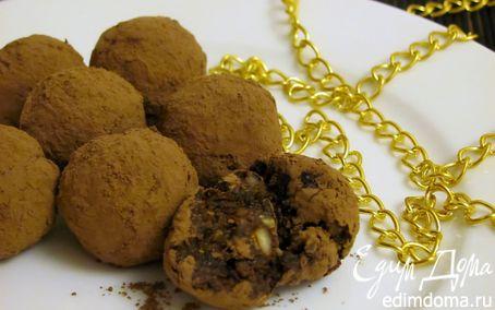 Рецепт Трюфели с черносливом и орехами