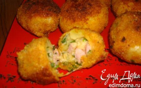 Рецепт Фаршированный ветчиной картофель