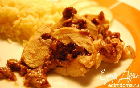Рецепт Куриная грудка, фаршированная красным цикорием и моцареллой