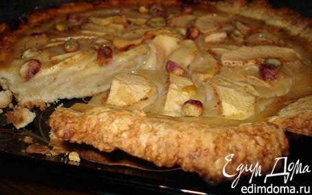 Рецепт Тарт с яблоками и медовой заливкой
