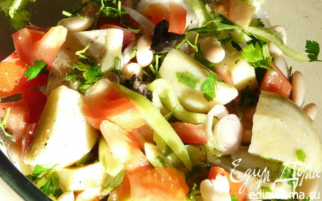 Рецепт Средиземноморский салат с артишоками