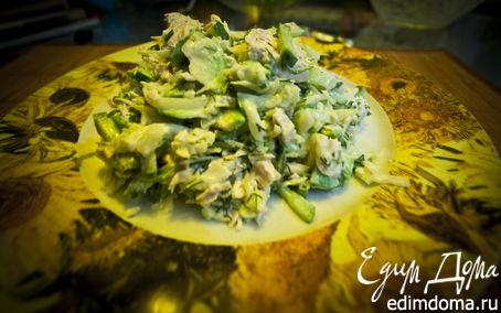 Рецепт Легкий салатик с авокадо и мясом индейки