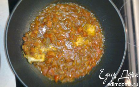 Рецепт Камбала в помидорном соусе