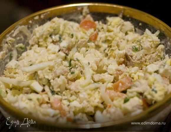 салат с брынзой и курицей фото рецепт
