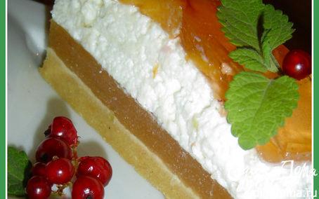 Рецепт Торт без выпечки с йогуртом и персиками