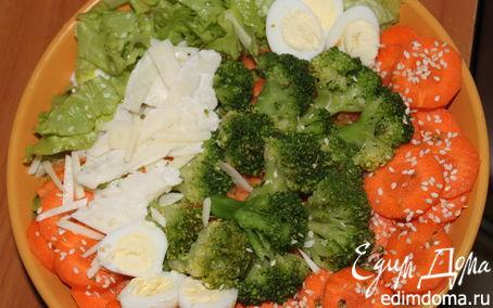 Рецепт Морковное брокколи с твердым сыром