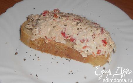 Рецепт Брускета с курицей и сладким перцем
