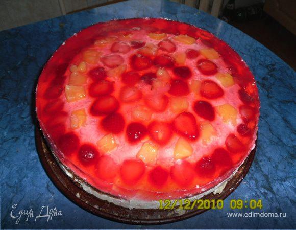 """Торт """"Фруктово-ягодный"""" с творогом"""