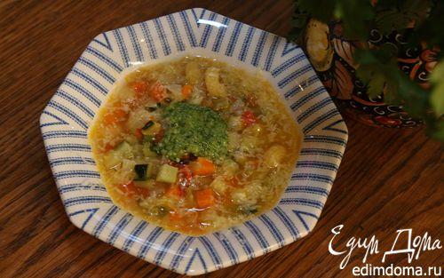 Рецепт Овощной итальянский суп с песто