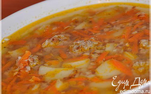 Рецепт Гречневый супчик с фрикадельками