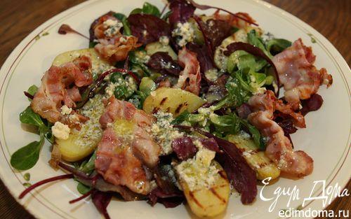 Рецепт Теплый салат с картофелем и беконом