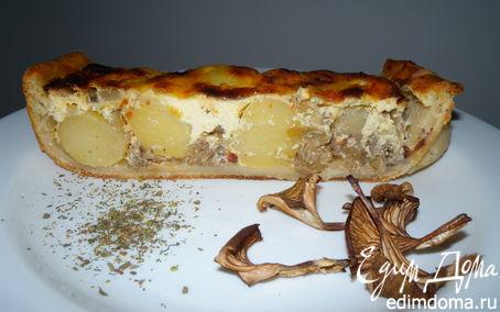 Рецепт Картофельный пирог с луком и грибами