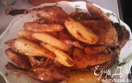 Рецепт Запеченная утка с картофелем