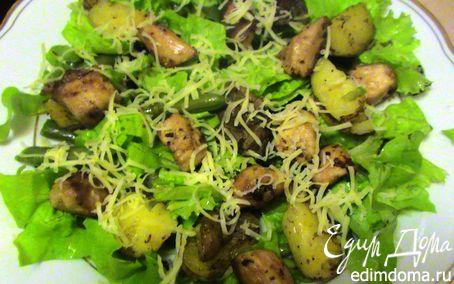 Рецепт Теплый салат с куриной грудкой и фасолью