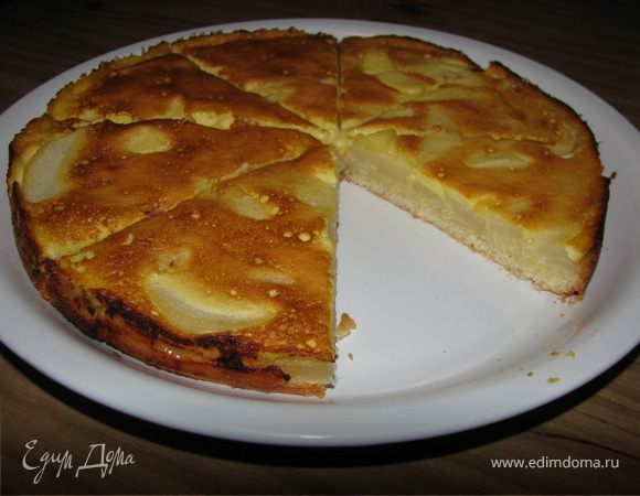 Грушевый пирог с медом