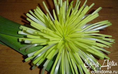 Рецепт Цветок из лука-порея