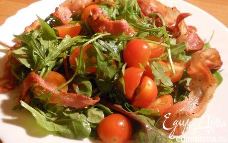 Рецепт Теплый овощной салат с хрустящей грудинкой
