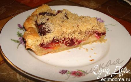Рецепт Зимний пирог со сливами