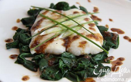 Рецепт Пангасиус со шпинатом IZUMI в пароварке