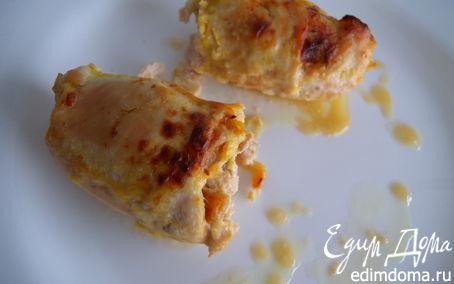 Рецепт + Рулетики курино-дынные в сливочно-имбирном соусе