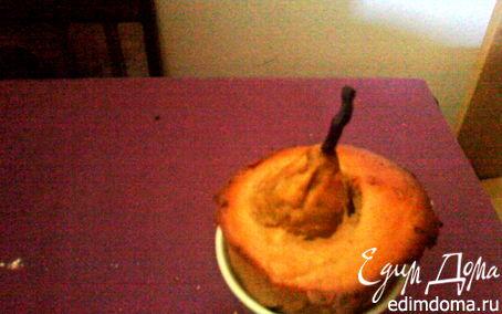 Рецепт Кофейные кексы с грушами