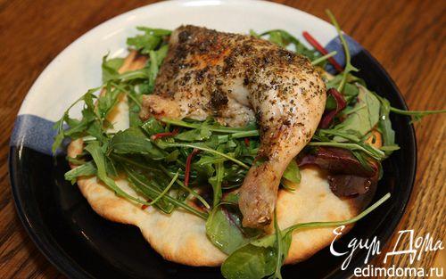 Рецепт Цыпленок с аджикой и майораном