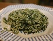 Зеленый плов со шпинатом и луком