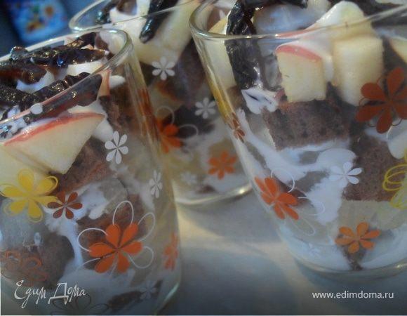 Фруктово-бисквитный десерт