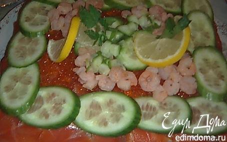 """Рецепт Шведский рыбный торт """"Smörgåstårta"""" (Смёргасторте)"""