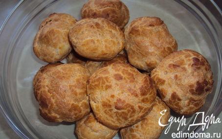 Рецепт Заварные пирожные с ореховым кремом (эклеры)