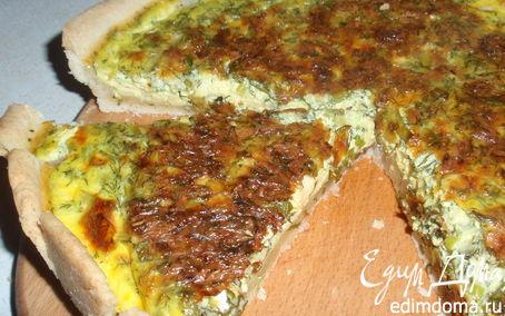 Рецепт Открытый пирог с сыром и зеленью