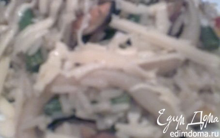 Рецепт Рис с мидиями, кальмаром и зеленой фасолью