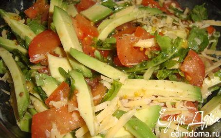 Рецепт Салат из руколы с авокадо и помидором