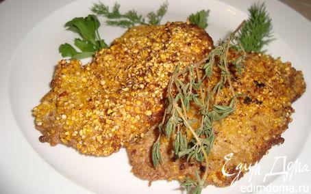 Рецепт Отбивные из свинины в кукурузной крупе