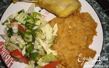 Рецепт Гороховая каша с мускатным орехом и соевым соусом