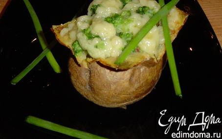 Рецепт Запеченный картофель с брокколи
