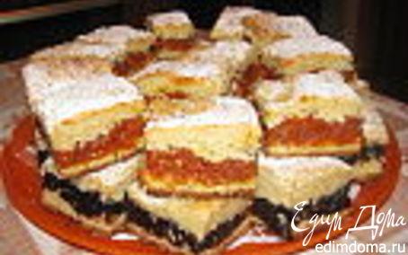 Рецепт Пирог с курагой и черносливом.