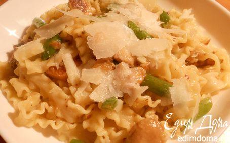 Рецепт Паста с белыми грибами и стручковой фасолью