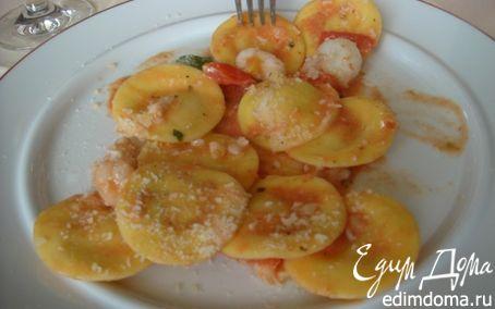 Рецепт Равиоли с крабовым мясом и сливочным соусом