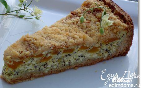 Рецепт Пирог «Творожно-абрикосовая сочность»