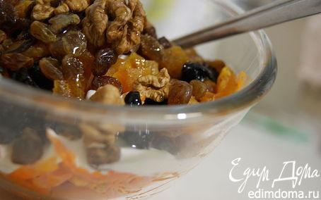 Рецепт Салат из тыквы с изюмом и сметанкой