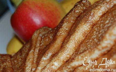 Рецепт Бананово-яблочные блинчики на кефире