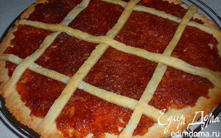 Рецепт Пирог с яблочным конфитюром