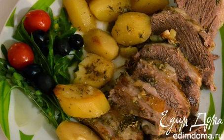 Рецепт Баранья ножка запеченная с картофелем