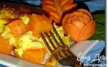 Рецепт Тыква, запеченная с яйцами в горшочках