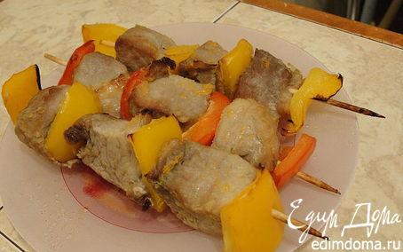Рецепт Мини-шашлычки из свинины с перцем