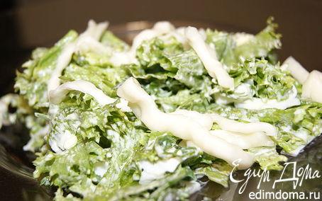 Рецепт Салат из листьев салата с сыром Сулугуни