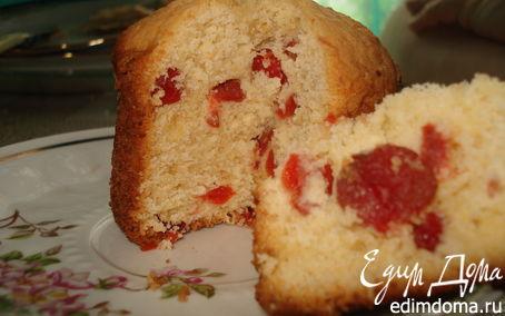 Рецепт Творожный кекс с вяленой вишней