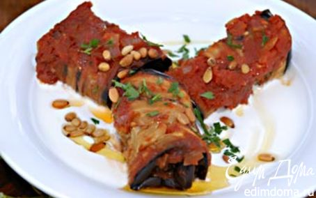 Рецепт Фаршированные баклажаны под соусом