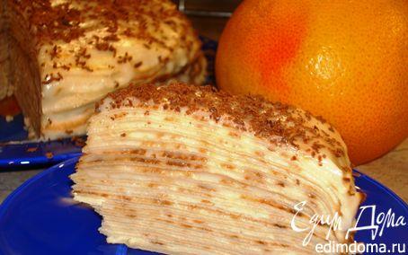 Рецепт Блинный торт с лимонным кремом на Масленицу